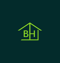 letter bh home realty creative business logo vector image