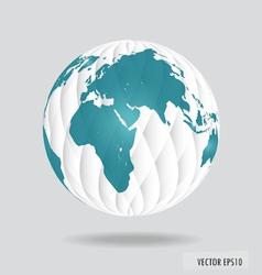 Modern globe vector image