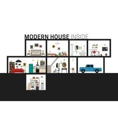 Modern house in cut vector
