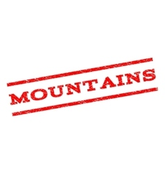 Mountains Watermark Stamp vector