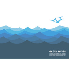 ocean waves background vector image