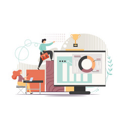 Office work flat style design vector