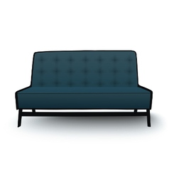 Old fashioned divan sofa isolated vector