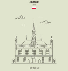 Old town hall in gdansk vector