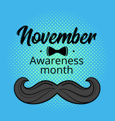 Prostate cancer awareness month poster vector