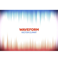 Retro styled background with sound waves vector