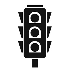 road cross traffic lights icon simple style vector image