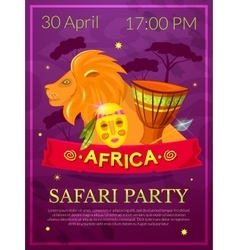 Safari party vector image