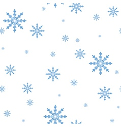 seamless pattern of the snowflakes celebratory bac vector image