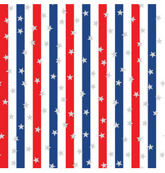 seamless pattern with blue red lines and stars vector image