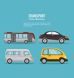 set transport vehicle image vector image