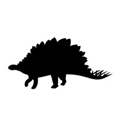 silhouette stegosaurus dinosaur jurassic vector image