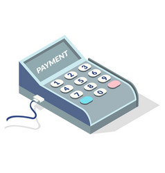 single payment terminal for retail sale service on vector image