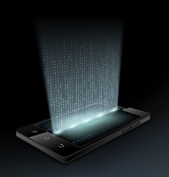 Smartphone Technology background vector image