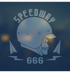 Speedwey 666 flat emblem vector