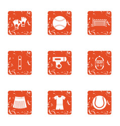 Sport watch icons set grunge style vector