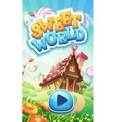 Sweet world mobile GUI pack loading screen vector