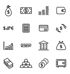 thin line icons - money vector image