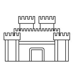Wall and gate of the old fortress icon vector