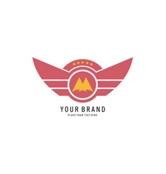 wings logo vector image