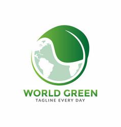 World green logo design template vector