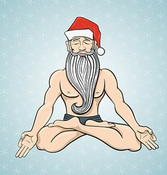 Yogin Santa vector image