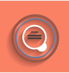 zoom icon modern flat design vector image