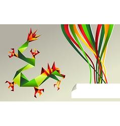 2012 China origami dragon of water vector image
