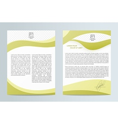 Business brochure Brochure Flyer design Easy to vector image