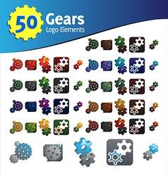 gears logo elements vector image