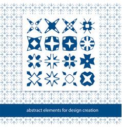 stylish creative geometric signs basic form vector image vector image