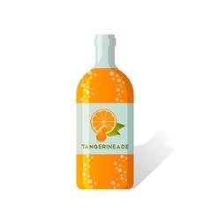 Tangerineade bottle vector image vector image