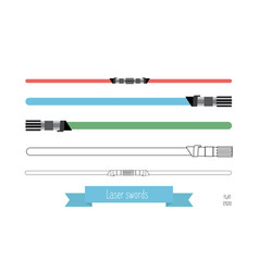 the flat swords vector image