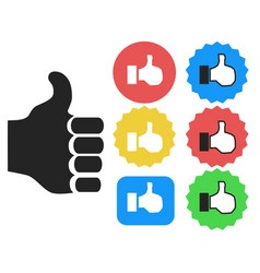 thumbs up icons set vector image vector image