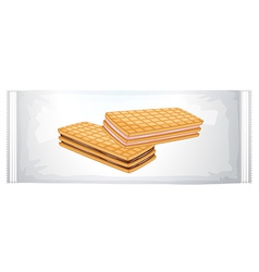 A pack of cream biscuits vector image vector image