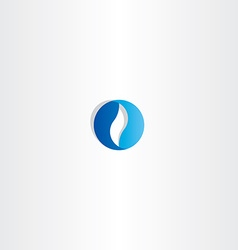 abstract blue circle business logo sign vector image vector image