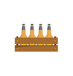 beer crate icon flat style vector image