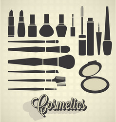 Cosmetics Silhouettes vector image vector image