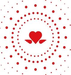 heart dot vector image vector image