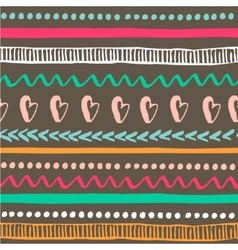Seamless tribal pattern Colorful hand drawn vector image vector image