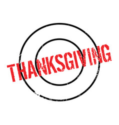 Thanksgiving rubber stamp vector