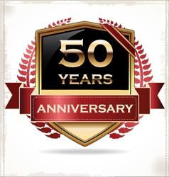 50 years anniversary golden label vector image vector image