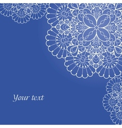 Background with lace ornament and space for your vector image