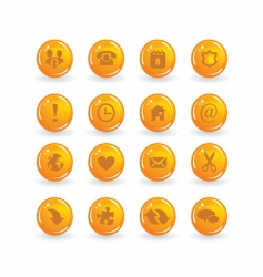 button icons vector image vector image
