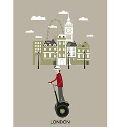 Man riding a segway London vector image