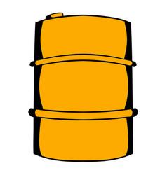 metal barrel icon cartoon vector image