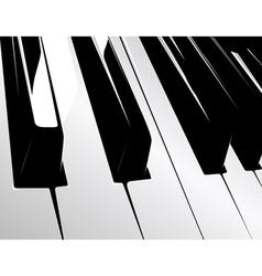 piano keyboard vector image