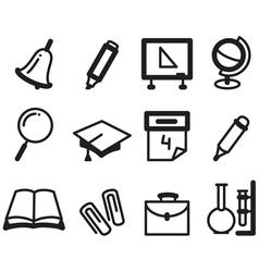 school icons vector image vector image