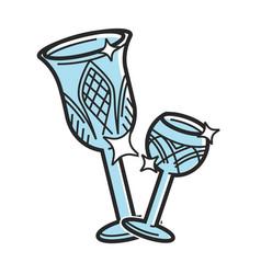 bohemian glass czech travel destination famous vector image