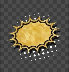 Gold sparkle comic star text bubble vector image